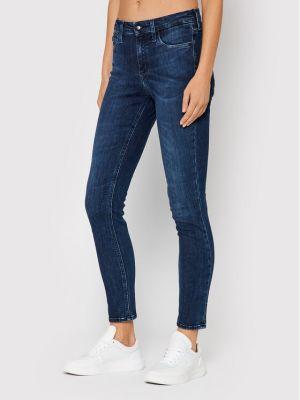 Mom jeans - granatowe Calvin Klein Jeans