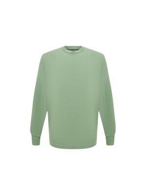 Зеленая хлопковая футболка Palm Angels