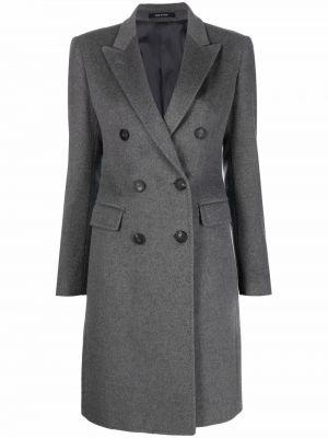 Серое прямое пальто Tagliatore