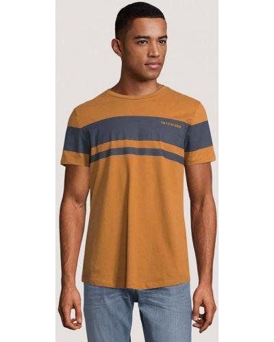 Оранжевая джинсовая футболка Tom Tailor Denim