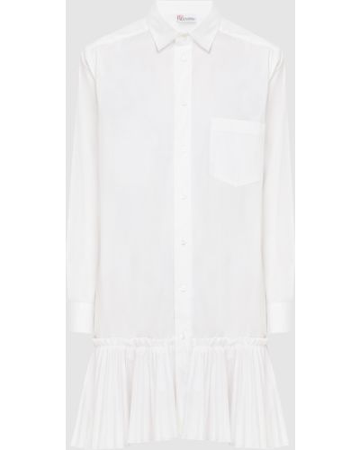 Шелковое белое платье мини Red Valentino