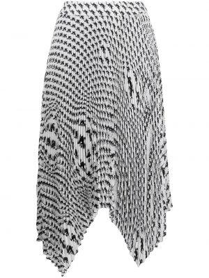 Юбка миди с принтом - белая Marine Serre