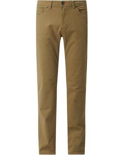 Beżowe spodnie bawełniane Montego