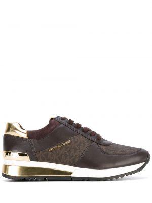 Замшевые коричневые кроссовки Michael Michael Kors