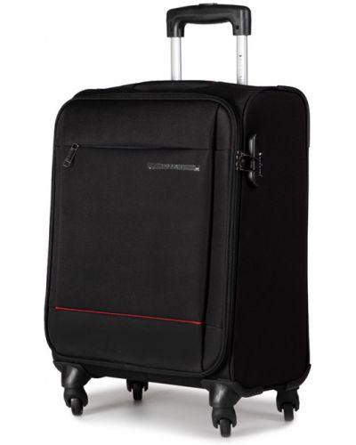 Czarna walizka materiałowa Puccini