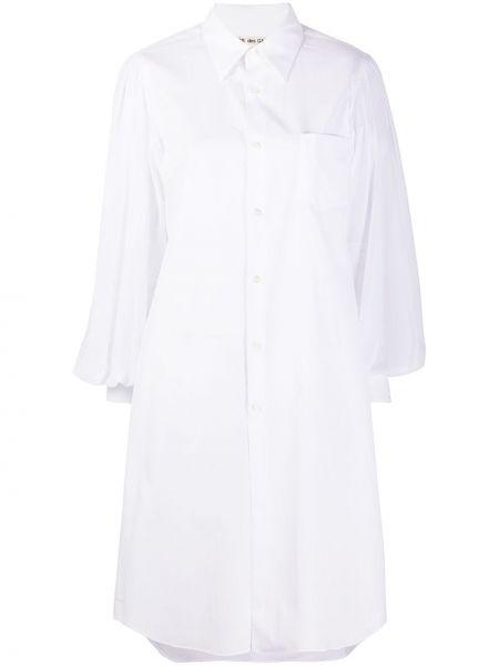 Платье макси длинное - белое Comme Des Garçons