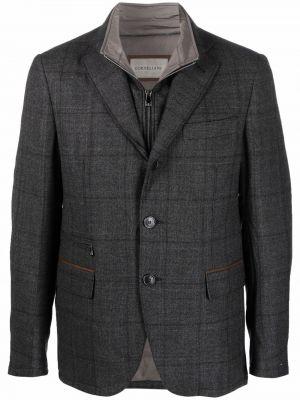 Серый пиджак из полиэстера Corneliani