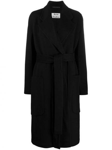 Długi płaszcz wełniany z klapą Acne Studios