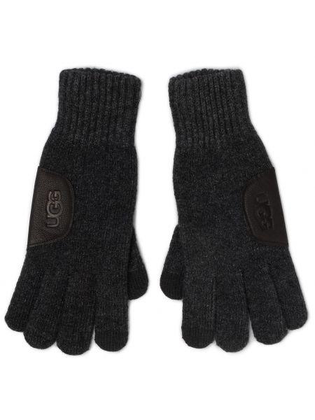 Szare rękawiczki z nylonu Ugg