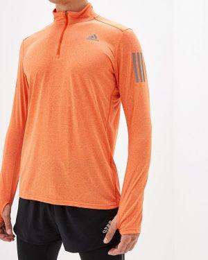 Оранжевая спортивная футболка Adidas