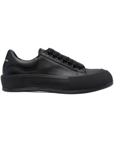 Buty sportowe skorzane - czarne Alexander Mcqueen
