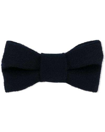Синий галстук-бабочка с бабочкой из вискозы Il Gufo