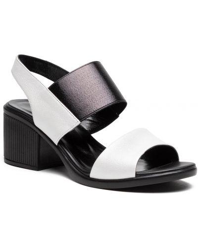 Sandały skórzane - białe Badura