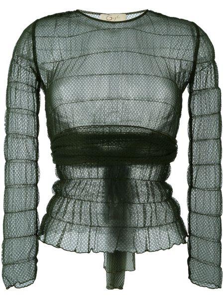 Zielona bluzka koronkowa z długimi rękawami Romeo Gigli Pre-owned