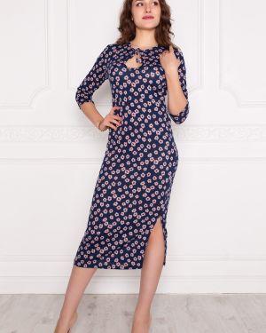 Платье розовое с цветочным принтом Lautus
