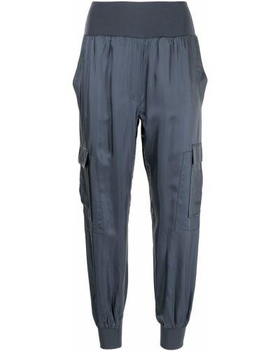 Синие брюки с завышенной талией Cinq À Sept