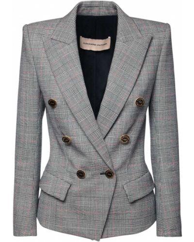 Шерстяной приталенный пиджак с карманами Alexandre Vauthier