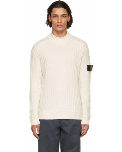 Шерстяной свитер - белый Stone Island