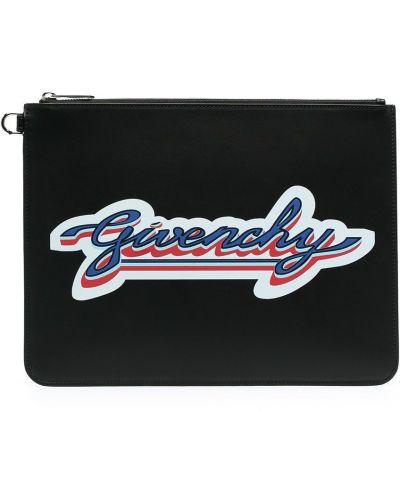Кожаная черная сумка на молнии Givenchy