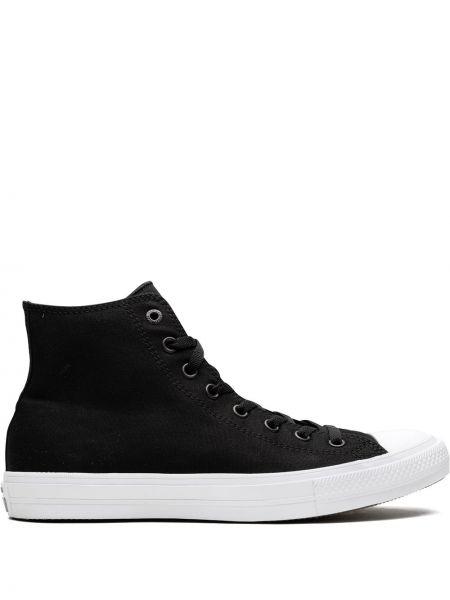 Кеды на шнуровке - черные Converse