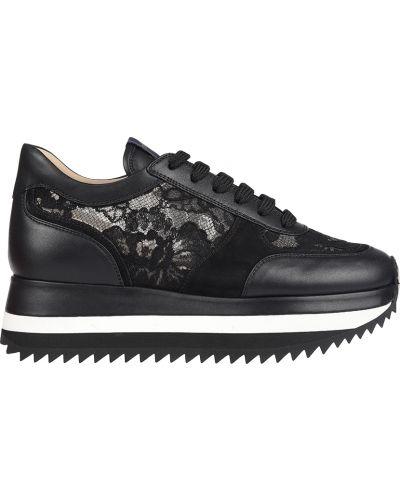 Кроссовки на платформе черные Le Silla