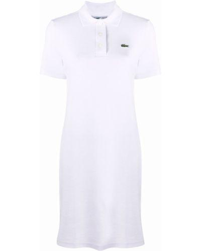 Платье мини короткое - белое Lacoste