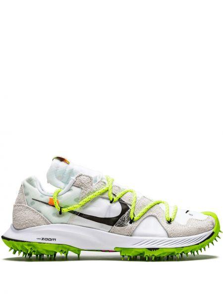 Białe sneakersy sznurowane koronkowe Nike X Off White