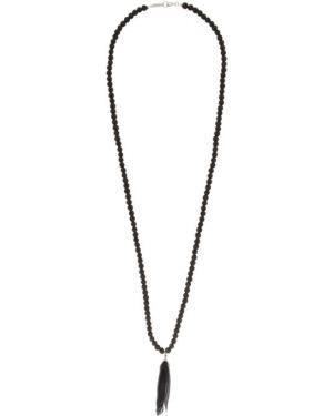 Ожерелье черный серебряный Isabel Marant