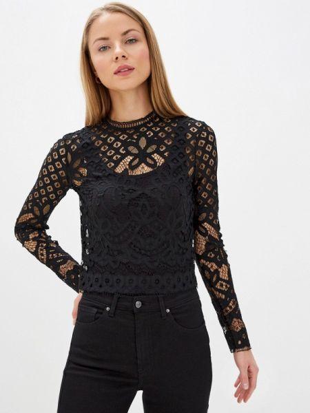 Черная блузка с поясом With&out