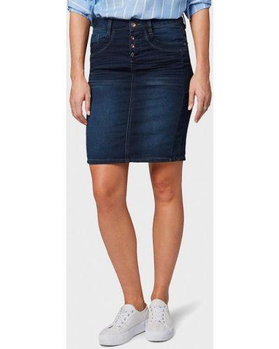 Джинсовая юбка весенняя синяя Tom Tailor