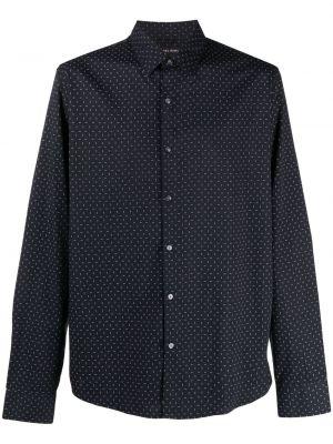 Синяя классическая рубашка с длинными рукавами с воротником Michael Michael Kors