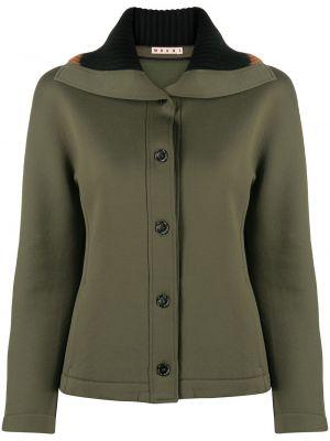 Зеленый пиджак на пуговицах Marni