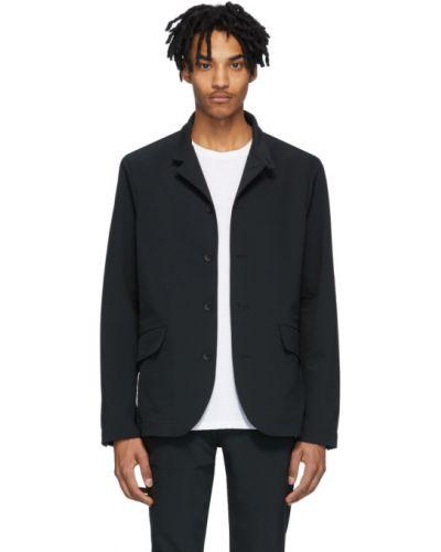 Czarna długa kurtka z nylonu z długimi rękawami Rag & Bone
