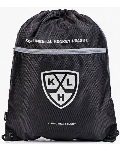 Черный текстильный рюкзак-мешок Atributika & Club™