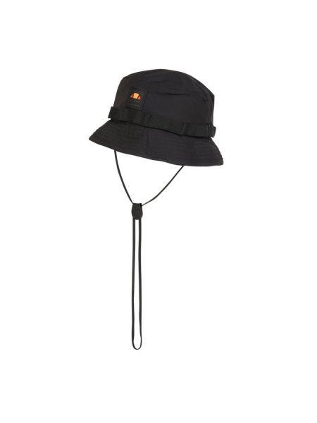 Czarny kapelusz z paskami Ellesse