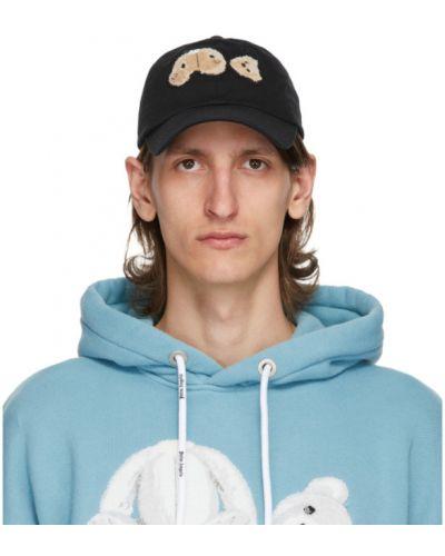 Bawełna bawełna biały czapka z daszkiem z haftem Palm Angels