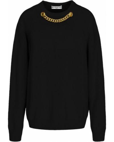Czarny z kaszmiru sweter zapinane na guziki Givenchy