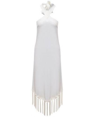 Шелковое платье - белое Fisico