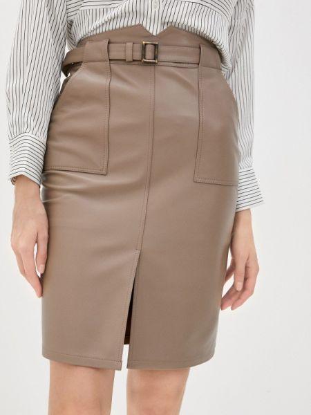 Кожаная юбка весенняя бежевый Grafinia