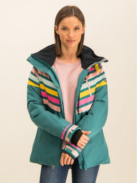 Zielona kurtka snowboardowa Roxy