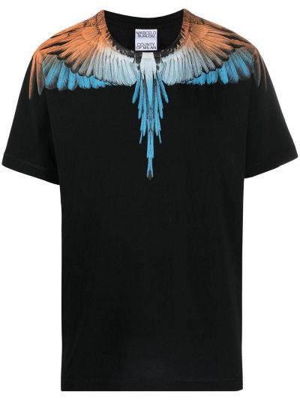T-shirt bawełniana - czarna Marcelo Burlon County Of Milan