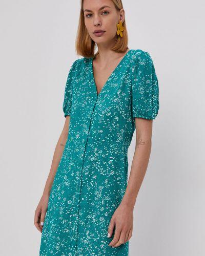 Zielona sukienka mini rozkloszowana z wiskozy Jacqueline De Yong