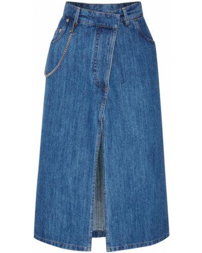 Юбка миди джинсовая асимметричная Miu Miu