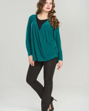 Блузка с запахом с драпировкой прима линия