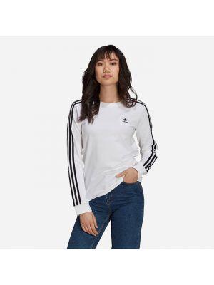 Хлопковый черный лонгслив с нашивками Adidas Originals