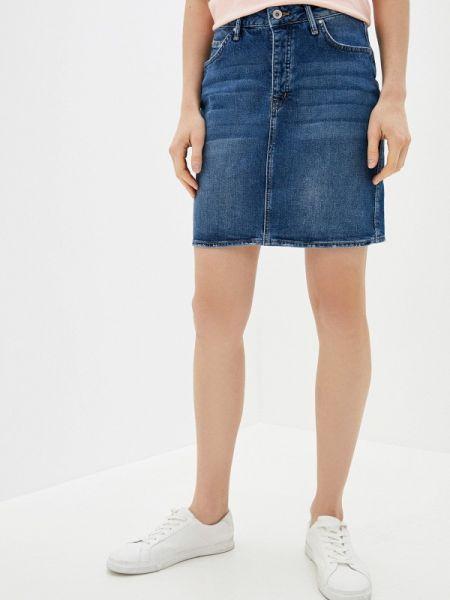 Джинсовая юбка синяя весенняя Colin's