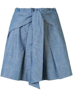 Шорты с карманами - синие 3.1 Phillip Lim