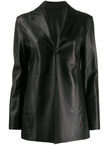 Черный приталенный кожаный классический пиджак 1017 Alyx 9sm