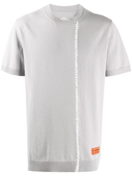 Koszula krótkie z krótkim rękawem z logo z mankietami Heron Preston