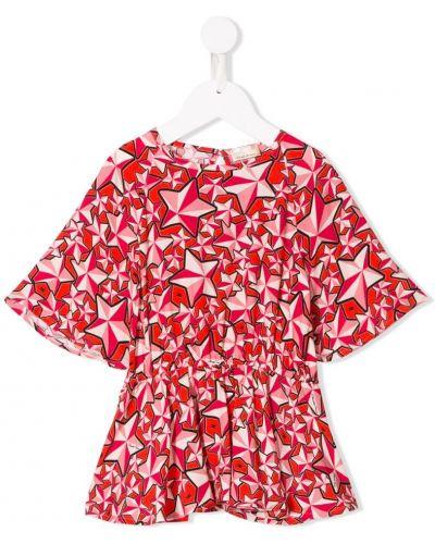 Блуза широкая красная Elisabetta Franchi La Mia Bambina
